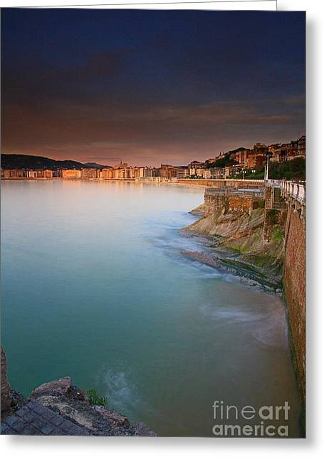 Recently Sold -  - City Lights Greeting Cards - San Sebastian 24 Greeting Card by Mariusz Czajkowski