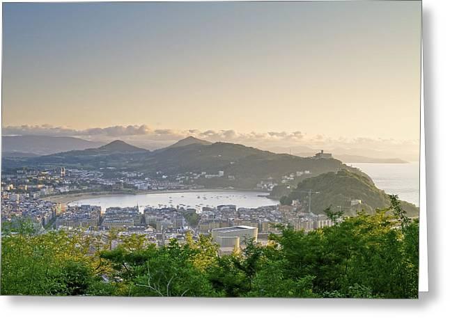Recently Sold -  - Sea View Greeting Cards - San Sebastian in Spain Greeting Card by Karol Kozlowski
