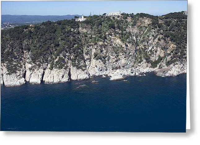 Towering Sea Cliffs Greeting Cards - San Sebastian Light, Calella De Greeting Card by Jordi Todó