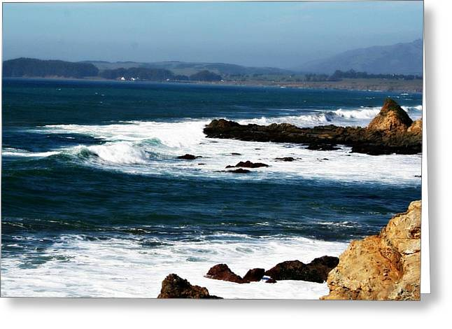 Cambria Digital Greeting Cards - San Simeon California Greeting Card by Alma Yamazaki