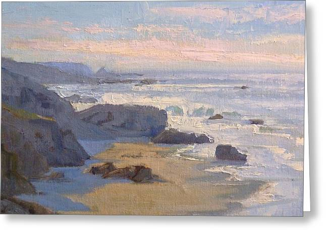 Cambria Greeting Cards - San Simeon Coast Greeting Card by Sharon Weaver