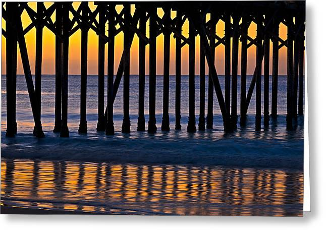 Coast Highway One Greeting Cards - San Simeon Pier Dawn 2012 Greeting Card by Ralph Nordstrom