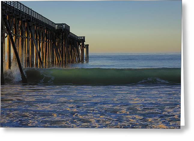 Coast Highway One Greeting Cards - San Simeon Pier Morning 2012 Greeting Card by Ralph Nordstrom