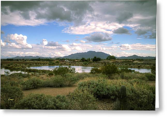 Hdr Landscape Greeting Cards - San Tan Wide Greeting Card by George Lenz