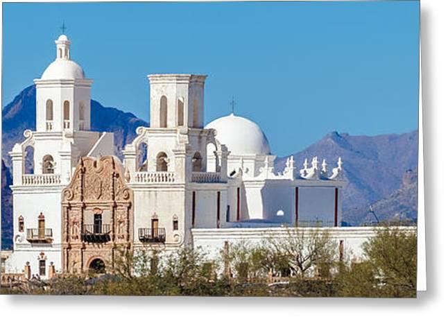 San Xavier Del Bac Mission Greeting Card by Ed Gleichman
