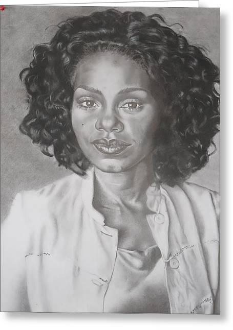 Recently Sold -  - Popular Art Greeting Cards - Sanaa Lathan Greeting Card by Valdengrave Okumu