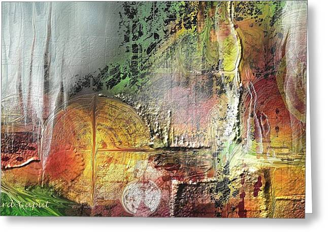 Abstract Digital Paintings Greeting Cards - SanAndrea Greeting Card by Francoise Dugourd-Caput