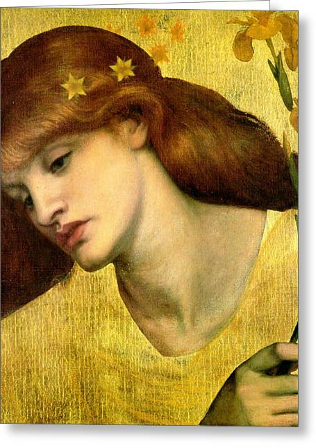 Rossetti Greeting Cards - Sancta Lilias 1874 Greeting Card by Philip Ralley