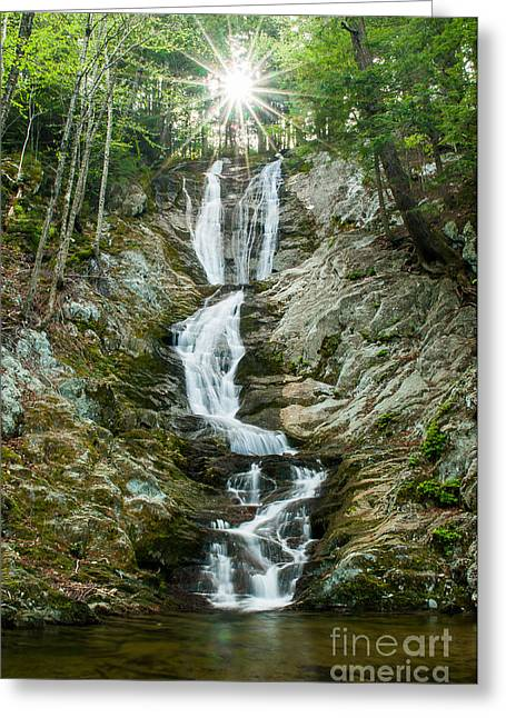 Water Flowing Greeting Cards - Waterfall - Sanctuary at Savoy Mountain Greeting Card by JG Coleman