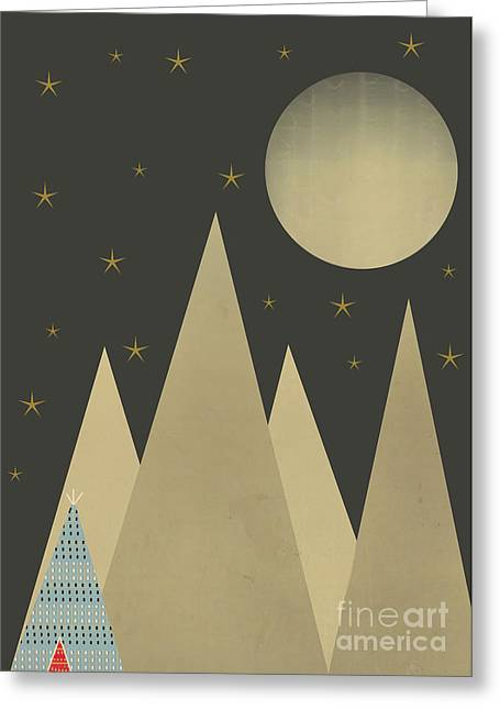 Tipis Greeting Cards - Sanctuary Greeting Card by Bri Buckley