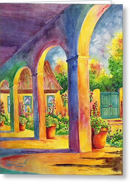 Taos Greeting Cards - Sanctuary Greeting Card by Michael Bulloch
