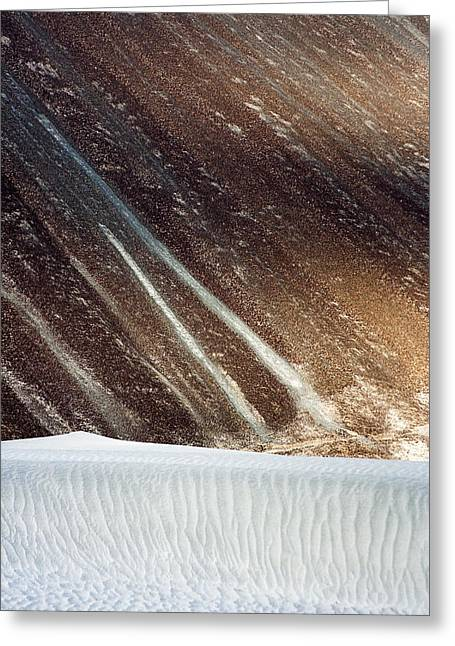 Sand Patterns Greeting Cards - Sand Abstract Greeting Card by Hitendra SINKAR