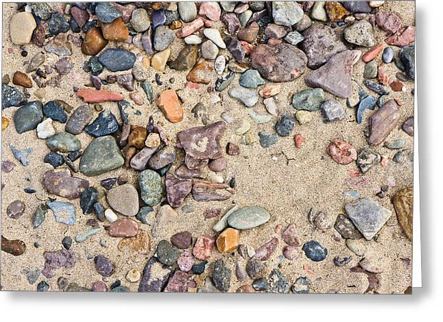 Abtract Greeting Cards - Sand and pebbles Greeting Card by Tom Gowanlock
