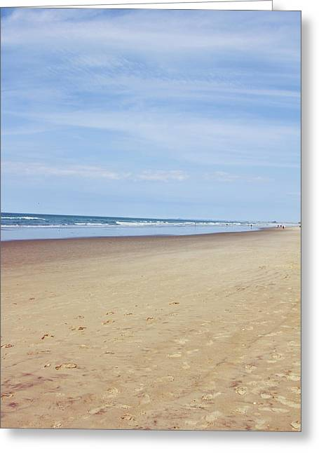 Beach Photos Greeting Cards - Sand and sky Greeting Card by Les Cunliffe