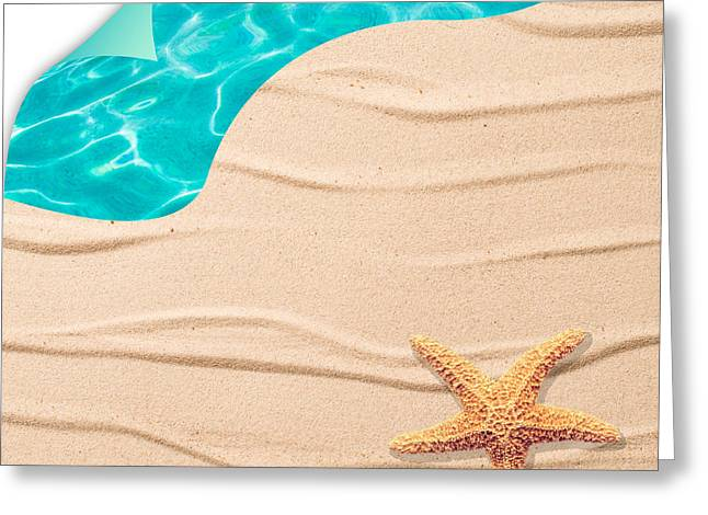 Sand Patterns Greeting Cards - Sand Background Greeting Card by Amanda And Christopher Elwell