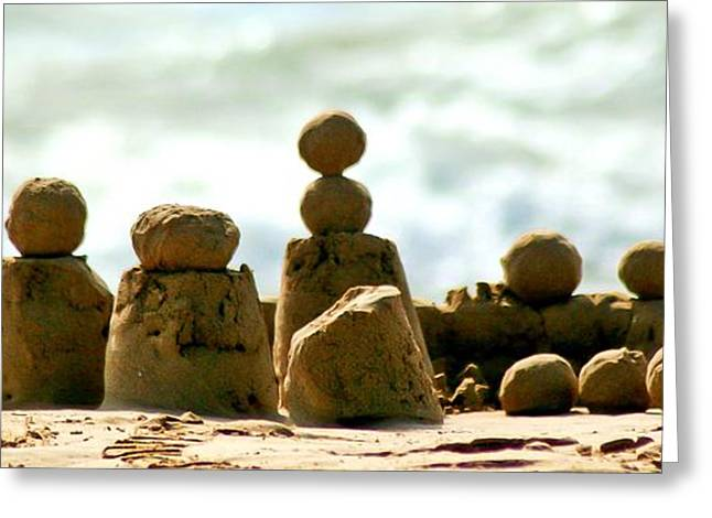 Sand Castles Greeting Cards - Sand Balls Greeting Card by Craig Watanabe