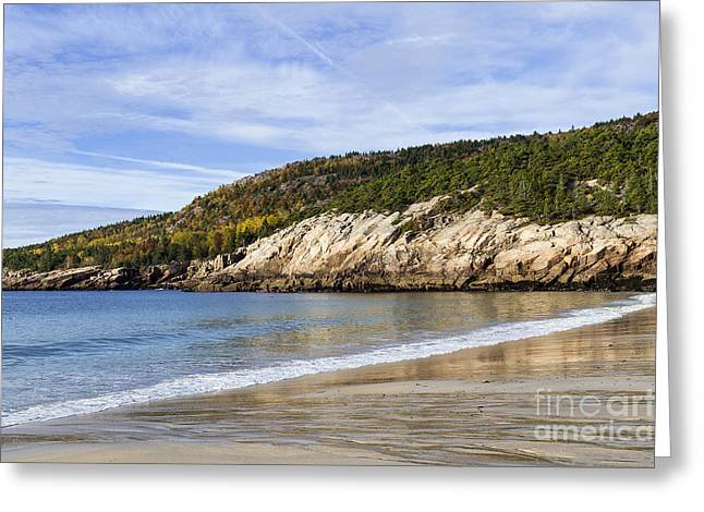 Recently Sold -  - New England Ocean Greeting Cards - Sand Beach Acadia Greeting Card by John Greim