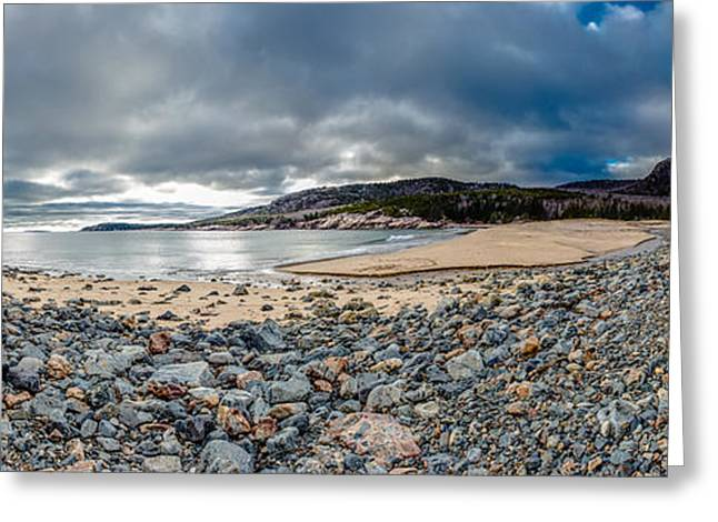 Maine Beach Greeting Cards - Sand Beach at Acadia Greeting Card by Brent L Ander