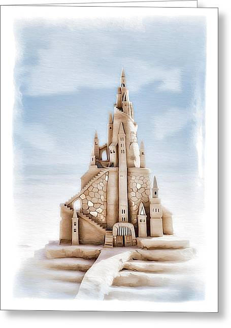 Sand Castles Digital Art Greeting Cards - Sand Castle 2 Greeting Card by Donna Kirby