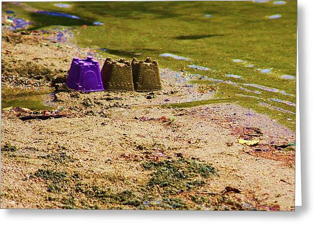 Sand Castles Greeting Cards - Sand Castle Greeting Card by Chuck  Hicks