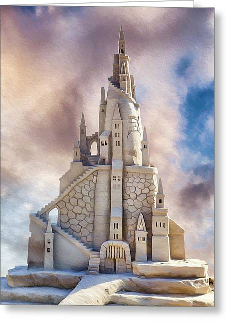 Sand Castles Digital Art Greeting Cards - Sand Castle Greeting Card by Donna Kirby