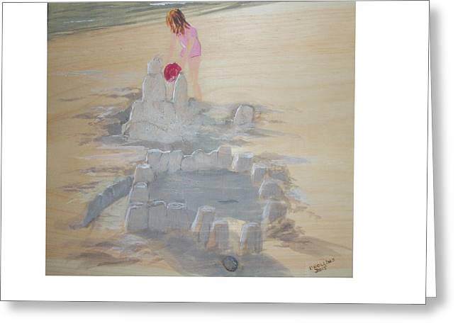 Sand Castles Greeting Cards - Sand Castle Greeting Card by Donna Rollins