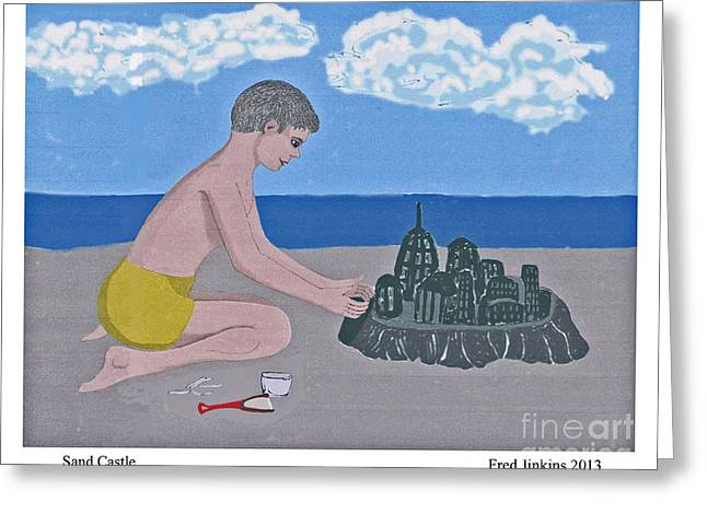 Sand Castles Greeting Cards - Sand Castle Greeting Card by Fred Jinkins
