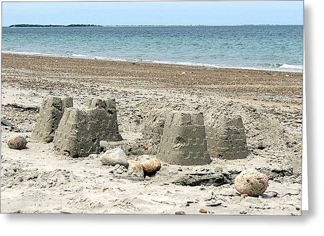Sand Castles Greeting Cards - Sand Castle Greeting Card by Janice Drew