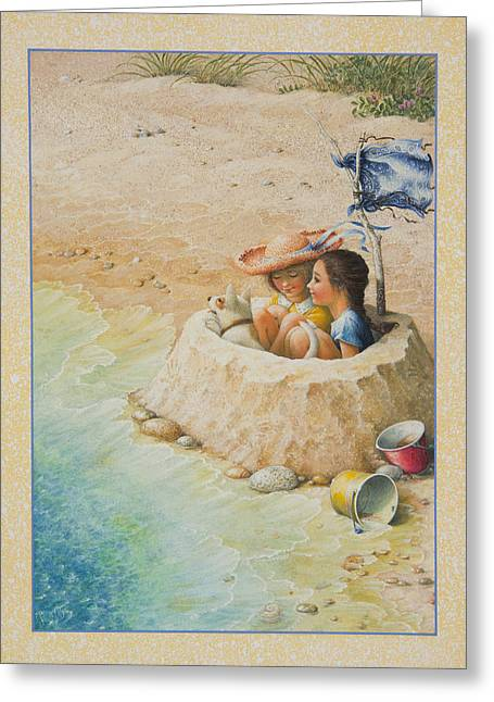Sand Castles Greeting Cards - Sand Castle Greeting Card by Lynn Bywaters