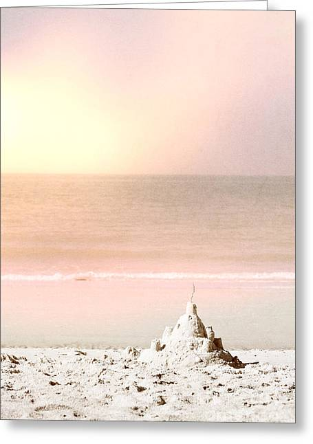 Sand Castles Greeting Cards - Sand Castle Greeting Card by Margie Hurwich