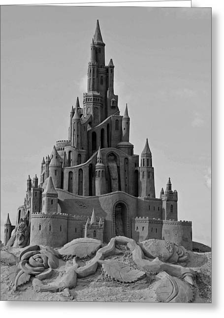 Sand Castles Greeting Cards - Sand Castle Greeting Card by Katrin Bellyeu
