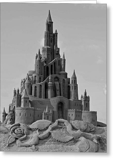 Sand Castles Photographs Greeting Cards - Sand Castle Greeting Card by Katrin Bellyeu