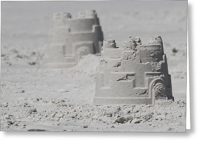 Sand Castles Greeting Cards - Sand Castles Greeting Card by Cathy Lindsey