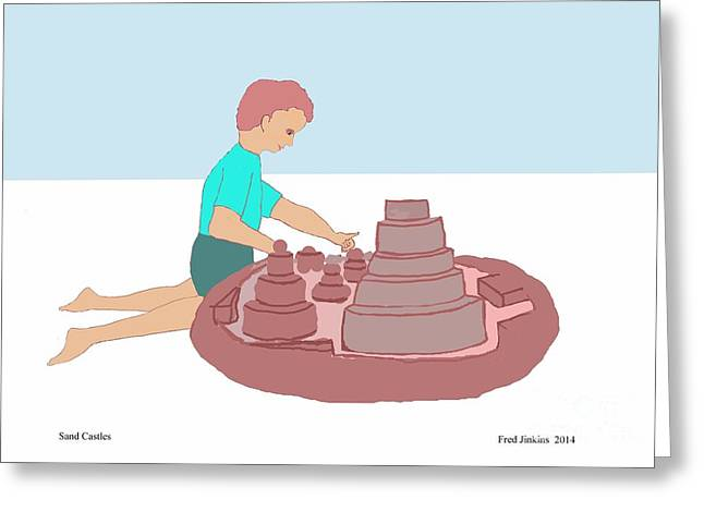 Sand Castles Digital Art Greeting Cards - Sand Castles Greeting Card by Fred Jinkins