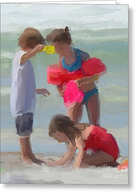 Sand Castles Digital Art Greeting Cards - Sand Castles Greeting Card by Mark Macko