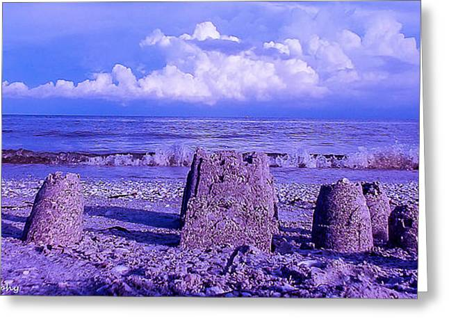 Sand Castles Greeting Cards - Sand Castles Greeting Card by To See Our World Photography