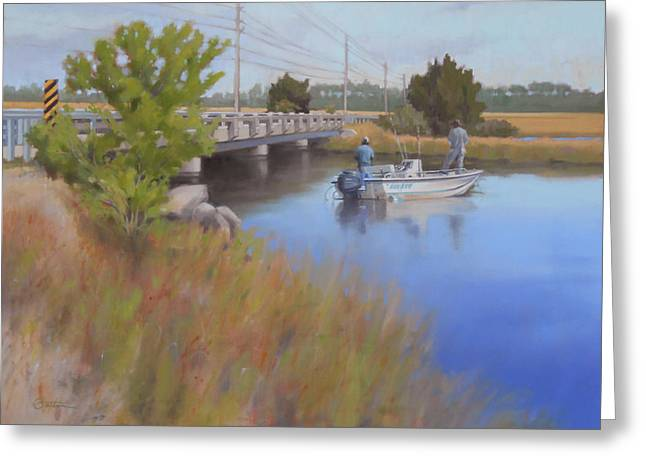 Recently Sold -  - Fishing Creek Greeting Cards - Sand Creek Greeting Card by Todd Baxter