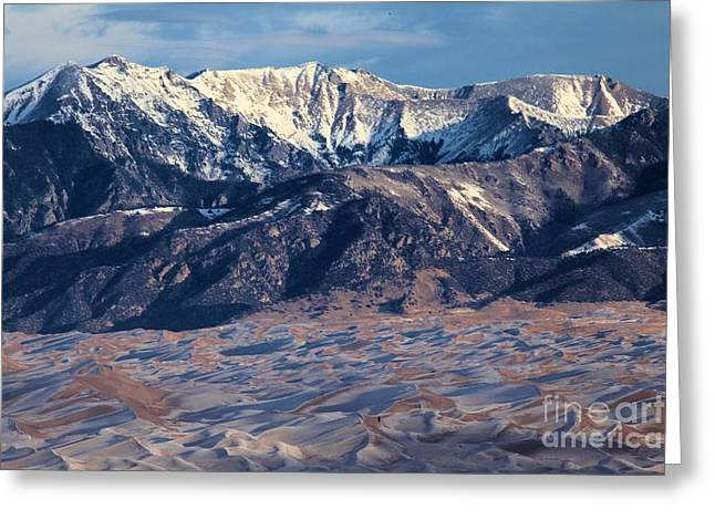 Colorado Sand Dunes Greeting Cards - Sand Dune Amphitheater Greeting Card by Adam Jewell