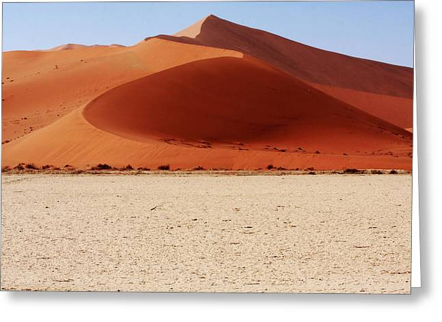 Desert Prints Greeting Cards - Sand Dune Curves Greeting Card by Aidan Moran