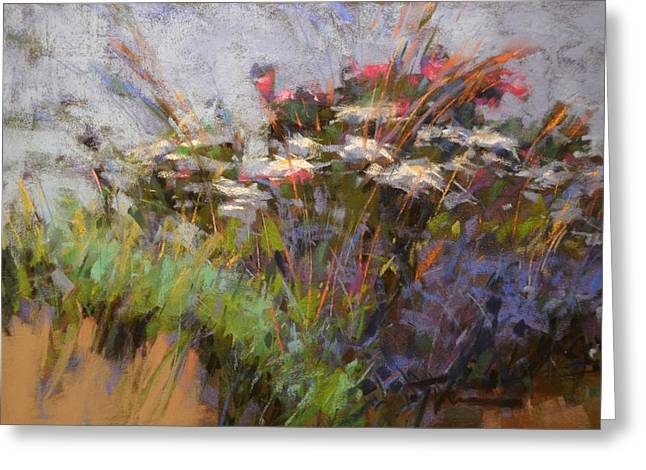Sand Dunes Paintings Greeting Cards - Sand Dune Daisies Greeting Card by Jennifer Evenhus