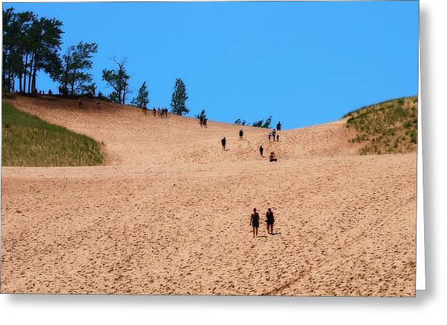 Bear Tracks Greeting Cards - Sand Dune Journey Greeting Card by Dan Sproul