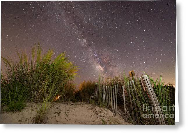 Ver Sprill Photographs Greeting Cards - Sand Dune Milky Way Greeting Card by Michael Ver Sprill