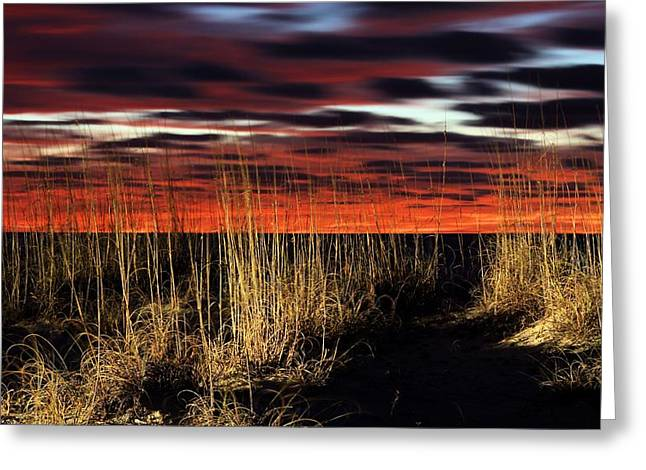 Sand Dunes Greeting Cards - Sand Dune Sunrise Greeting Card by JC Findley