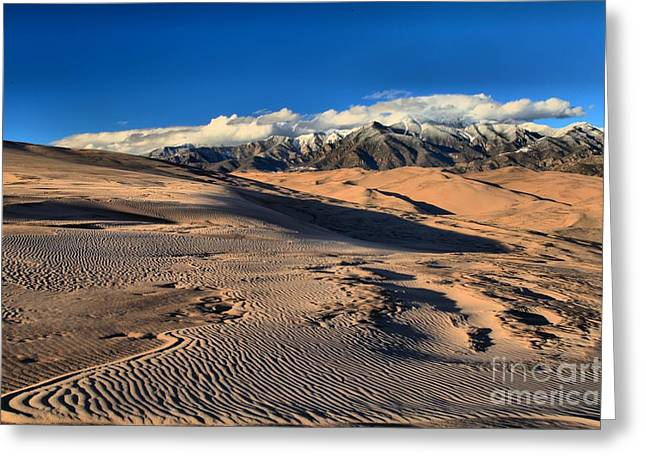 Large Sand Dunes Greeting Cards - Sand Dune Textures Greeting Card by Adam Jewell