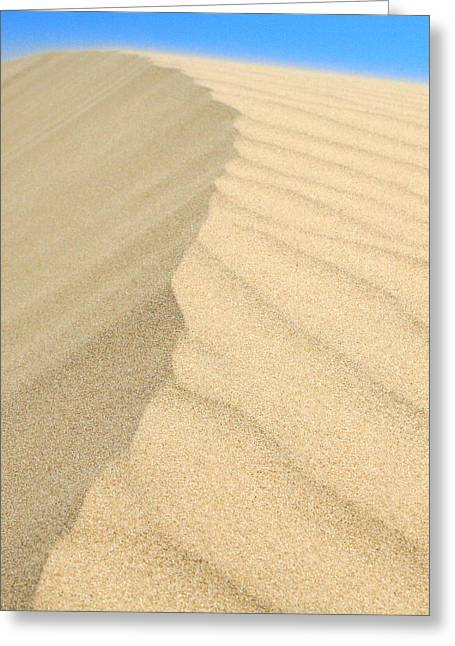 Sand Patterns Greeting Cards - Sand dune Greeting Card by The Texturologist
