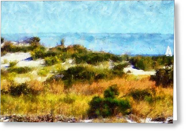 Sand Dunes Assateague Island Greeting Card by Janine Riley