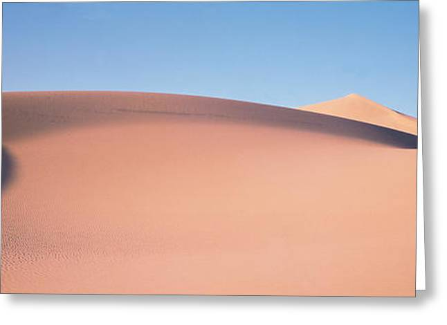 Undulating Greeting Cards - Sand Dunes Death Valley Nv Usa Greeting Card by Panoramic Images