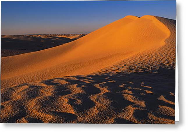Sand Dunes In A Desert, Douz, Tunisia Greeting Card by Panoramic Images