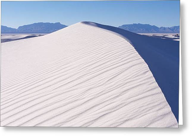 Sand Patterns Greeting Cards - Sand Dunes In A Desert, White Sands Greeting Card by Panoramic Images