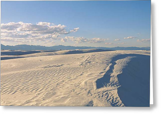 White Sands National Monument Greeting Cards - Sand Dunes In Desert, White Sands Greeting Card by Panoramic Images